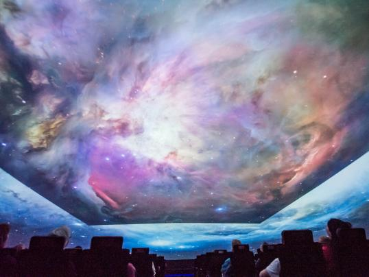 Planetarium show. Courtesy Mark SubbaRao.
