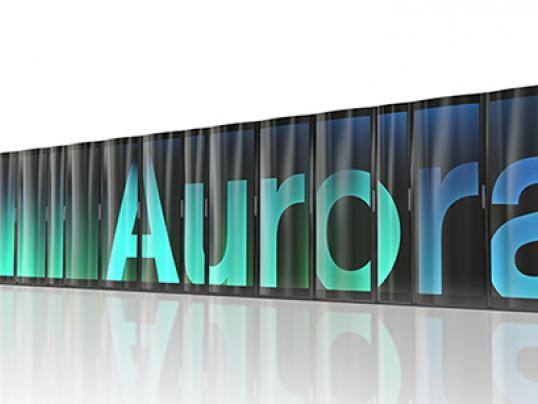 Artist's rendering of Aurora. Courtesy Argonne/ALCF.