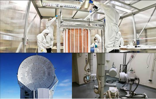 DaLI will support data-intensive projects including, clockwise from top, XENON1T, XROMM, and the South Pole Telescope.