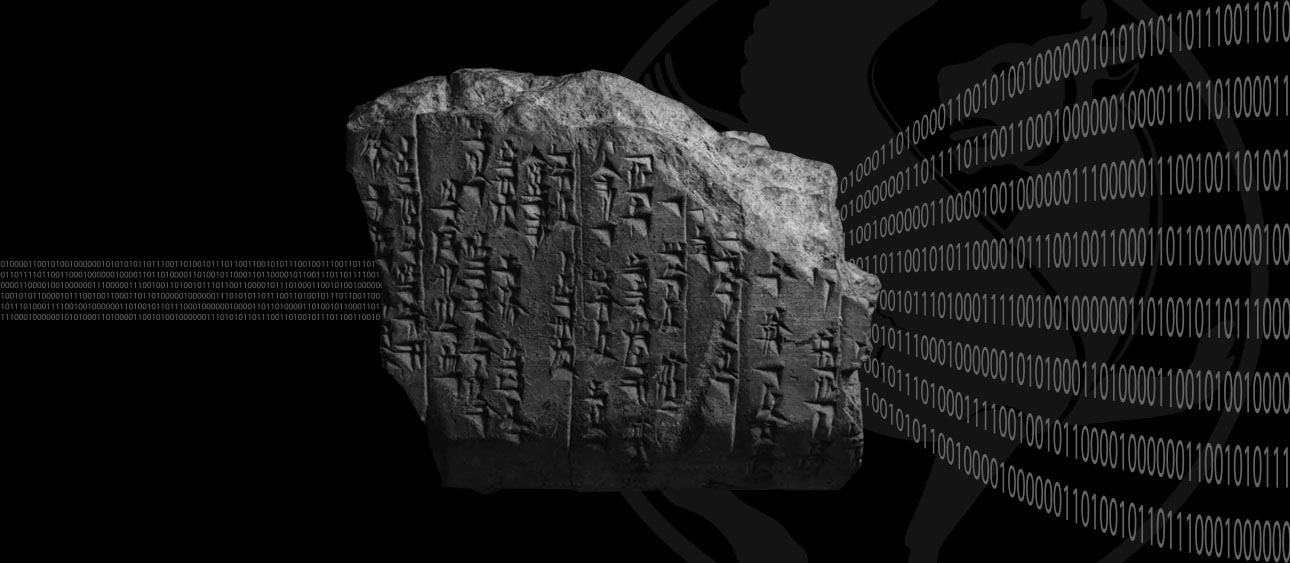 Original image of Hittite inscription from the Oriental Institute at the University of Chicago. Photo illustration by Ricardo Aguilera, RCC.